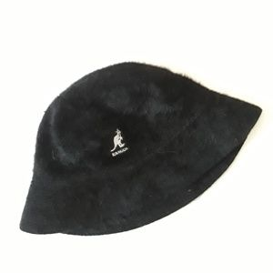 Vintage Kangol Black Fuzzy Hat